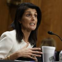 Trump U.N. pick Haley backs moving U.S. Embassy to Jerusalem as Obama sees two-state bid waning