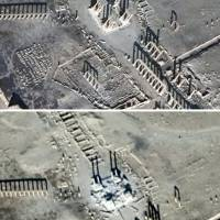 Islamic State destroys part of Roman theater in Palmyra, Syria