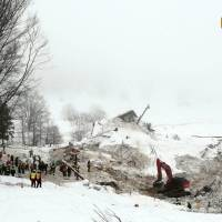 Deadly chopper crash further taxes Italy's first-responders as hotel avalanche toll reaches 16