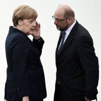 Merkel's bid for fourth term is complicated by coalition partner SPD's choice of popular Schulz as leader