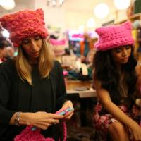 PussyHat activists knit feminist challenge to Trump