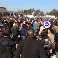 Sanders health care rally draws thousands to frigid Michigan campus