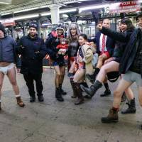 No Pants Subway Ride arrives right on time