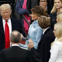 Trump, now president, pledges to put America first in nationalist speech