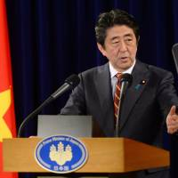 Abe says he hopes to meet Trump soon after inauguration
