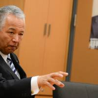 Akira Amari, a former economy minister, says during an interview on Jan. 18 that the Trans-Pacific Partnership trade agreement, which U.S. President Donald Trump vowed to kill on his first day in office, is actually the best way to achieve the fair trade in Asia that he promised American voters. | BLOOMBERG