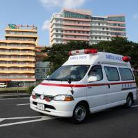 Nonessential use of ambulances is causing delays for people who really need help, according to the Fire and Disaster Management Agency. | BLOOMBERG