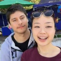 A still image from the Daily Motion video-sharing website shows missing Japanese student Narumi Kurosaki and her Chilean ex-boyfriend Nicolas Zepeda Contreras, who has been placed on the international wanted list over her suspected murder. | KYODO