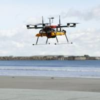 In world first, drone delivers soup to surfers off Fukushima Prefecture
