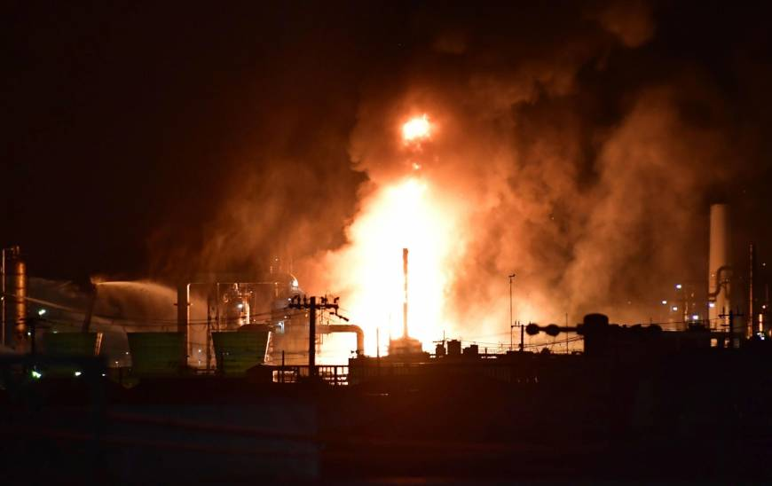 3,000 people ordered to evacuate after fire breaks out at Wakayama Prefecture oil refinery