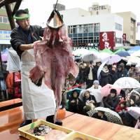 Itoigawa holds annual monkfish festival one month after blaze