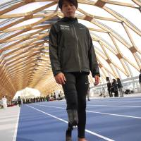 Amputee sprinter Keita Sato says that if Paralympic athletes overtake Olympians it would change people's perception of not only sports for people with disabilities but also disability itself. | TOMOKO OTAKE