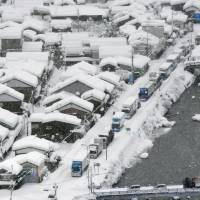 Heavy snow traps over 300 vehicles in western Japan