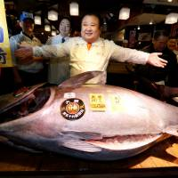 Japan's 'Tuna King' wins annual auction, netting single bluefin for ¥74.2 million