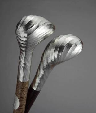 A sculpture by silversmith Wayne Meeten