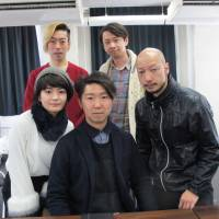 Top team: 'Macbeth' director Ryunosuke Kimura (center) with cast members, including Maimi (Lady Macbeth, front left) and Yamato Kochi (Macbeth, front right). | NOBUKO TANAKA