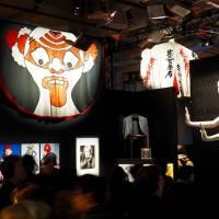 Installation view of 'David Bowie is,' including costumes made by designer Kansai Yamamoto for the Ziggy Stardust and Aladdin Sane tours. | MARK THOMPSON