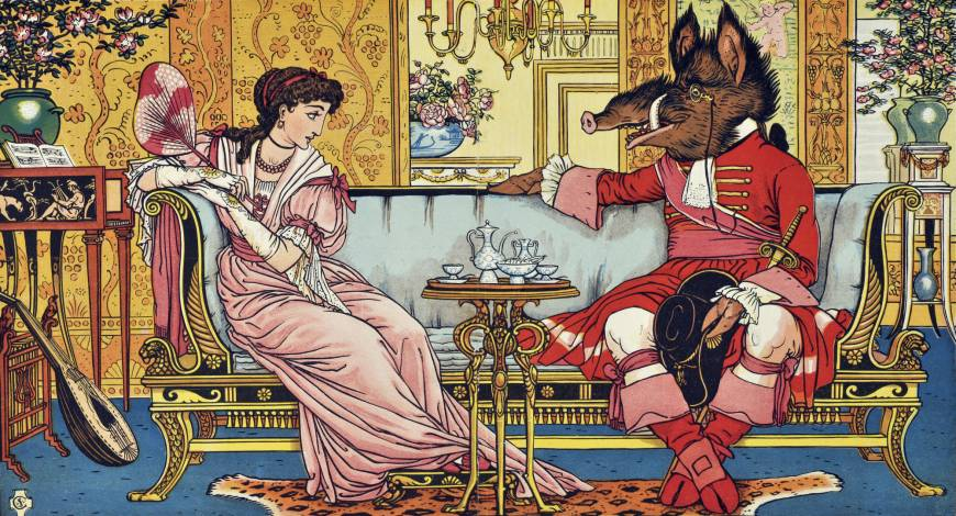 Walter Crane's 'Beauty and the Beast' (1874)