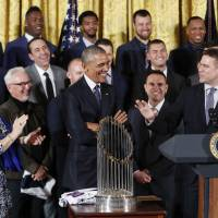Obama fetes World Series champs Chicago Cubs at White House