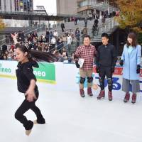 Miki Ando, seen skating at a recent event, remains the only woman ever to land a quadruple jump in competition. | INSTAGRAM