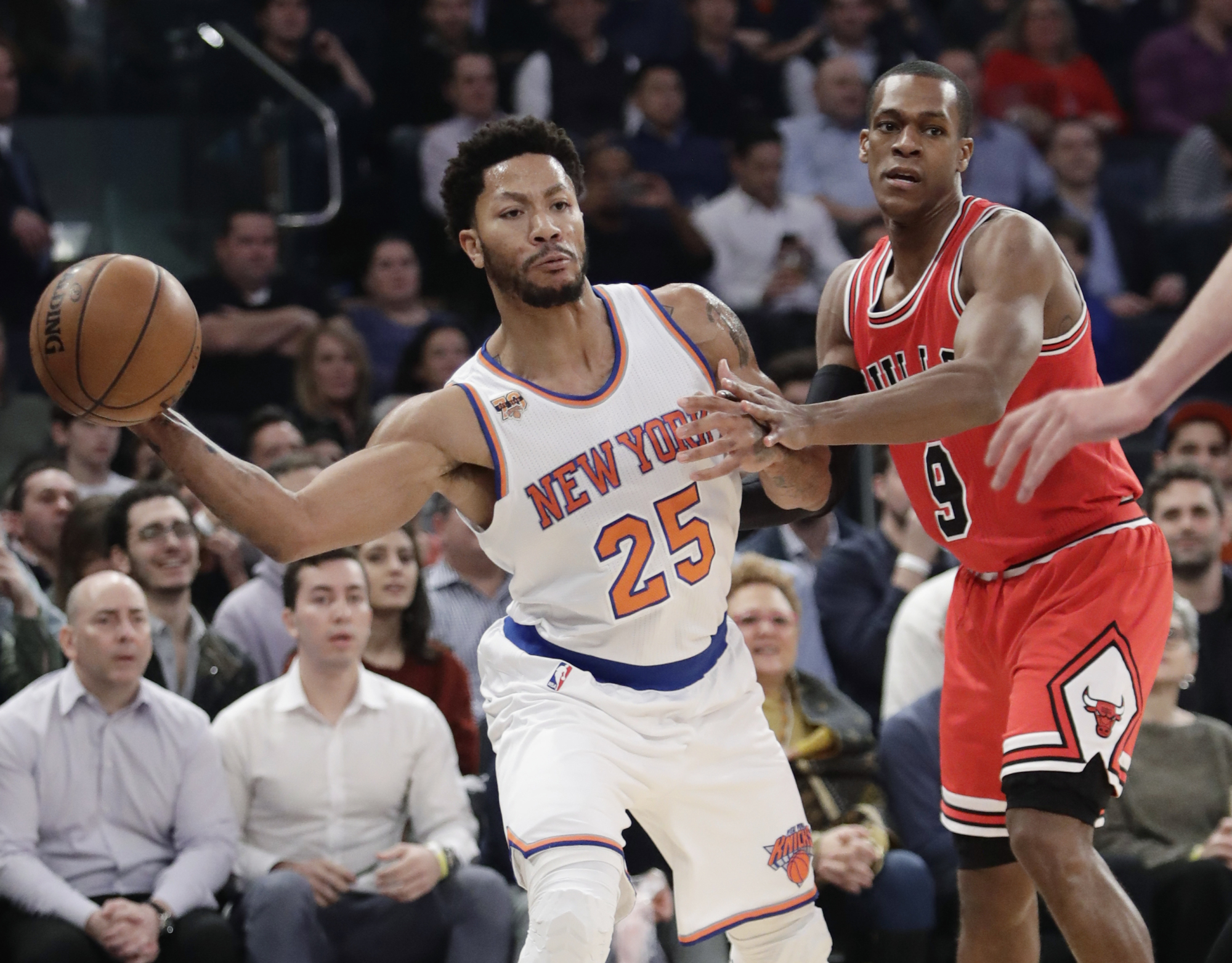 Knicks guard Derrick Rose, who was the 2011 NBA MVP, has been a consistent target of media and fan criticism throughout his career. | AP