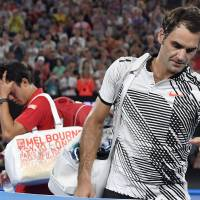 Federer ousts Nishikori at Australian Open