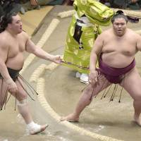 Giant-killer Mitakeumi takes down Harumafuji