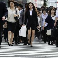 Women hold just 3.4% of exec positions at listed Japan firms, far from 30% target: survey