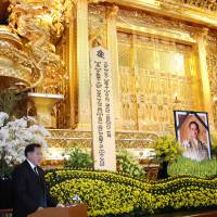 Late Thai king honored in Buddhist service