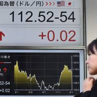 The yen is likely to be sensitive to any further criticism of Japan's monetary policy during Trump's meeting with Abe at the White House on Friday. | AFP-JIJI