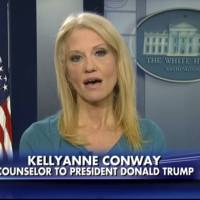 This frame grab from video provided by Fox News shows White House adviser Kellyanne during her interview with 'Fox News Fox and Friends' Thursday, in the briefing room of the White House in Washington. Conway defended Ivanka Trump's fashion company, telling Fox News that Trump is a 'successful businesswoman' and people should give the company their business. | FOX NEWS VIA AP