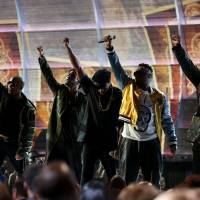 Artists 'persist' and 'resist' as Grammys get political