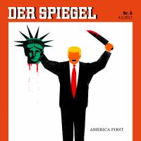 Der Spiegel editor defends cover illustration of Trump beheading Statue of Liberty