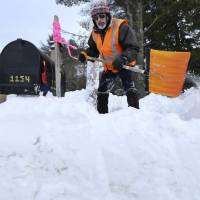 'Powder Day' declared as blizzard blasts New England, public urged to stay off roads