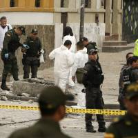 Bomb planted in sewer outside Colombia bull ring kills cop