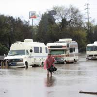 Five rescued from flooded homeless camp amid California deluge