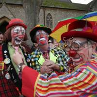 Clowns converge on London to honor life of founding father