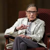 Justice Ginsburg praises media, free press, mass march day after Trump inauguration