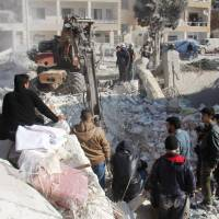 Idlib airstrikes deadly to at least 15, mostly civilians, blamed on either Russia, U.S. coalition