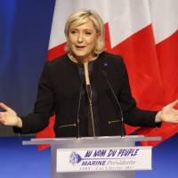Le Pen vows 'France first' at campaign launch, hits globalization, Islamic fundamentalism