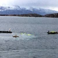 British tourists among 11 hurt in Norway boat accident as people thrown into frigid sea 'like dolls'