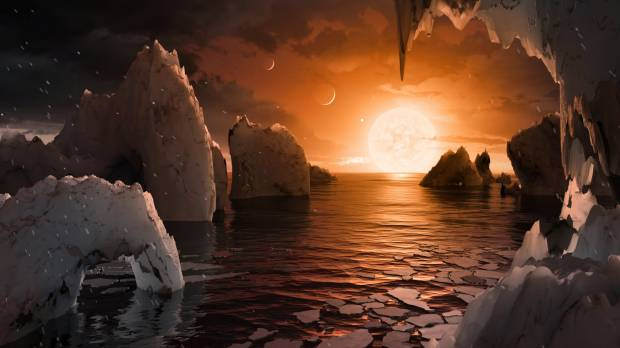 Astronomers find seven Earth-like planets orbiting nearby star