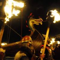 Scottish isle pays fiery tribute to Viking past, sending longboat to Valhalla