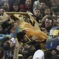 Al-Qaida ranks join thousands in Egypt to mourn 'blind sheikh' convicted in deadly 1993 WTC blast