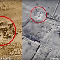 Russian drone video shows Islamic State destroying more of Palmyra; HRW blasts Aleppo gas attacks
