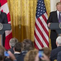 Trudeau talks trade with Trump as Ivanka promotes women workers