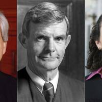 This combination of recent pictures created on Tuesday shows (from left) Judges Richard Clifton, William Canby and Michelle Friedland from the Ninth Circuit Court of Appeals in San Francisco. | U.S. COURTS FOR THE NINTH CIRCUIT / AFP-JIJI