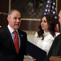 Pruitt becomes chief of U.S. Environmental Protection Agency despite objections over his links to industry and denials of climate change