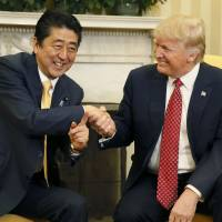 Deflecting criticism of Trump ties, Abe says 'no other choice' but close Japan-U.S. relationship