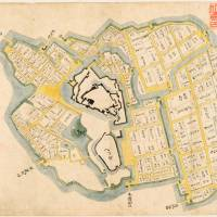 Detailed defenses of Edo Castle depicted by picture map discovered in Matsue